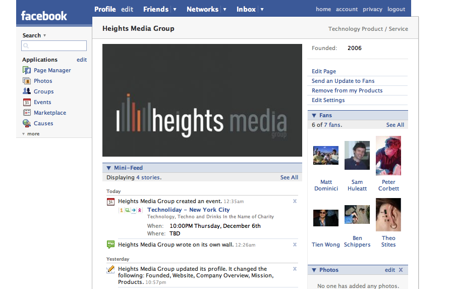 Heights Media Group Facebook Page