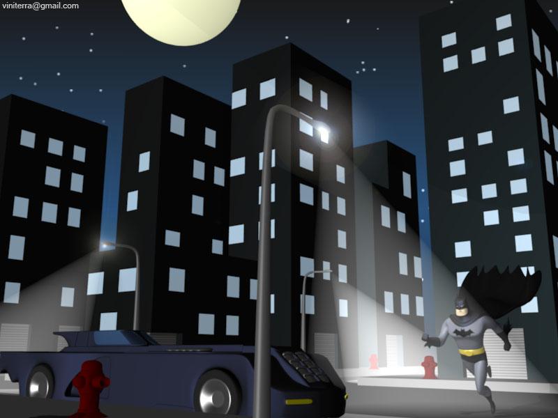 virtual gotham city batman second life