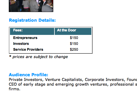 venture capital conference pricing new york city NYC VC