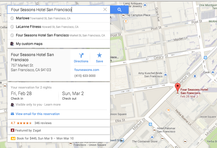 Google Maps Card Design