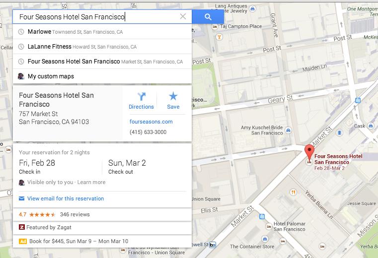 Google Maps Card Design
